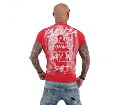 Yakuza Tričko TSB 13026 Lock Up T-Shirt ribbon red