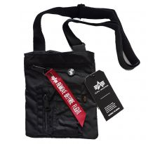Alpha Industries Crew Messenger Bag black