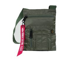Alpha Industries Crew Messenger Bag sage green