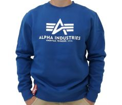 Alpha Industries mikina Basic sweater nasa blue
