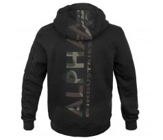 Alpha Industries mikina Back Print Hoody Camo black